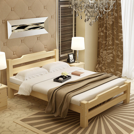 Beds Self-Conscious Home Bed Bedroom Furniture Home Furniture Pine Solid Wood Double Bed Single Beds Kids Bed 135/150/*190cm Cama De Casal Muebles