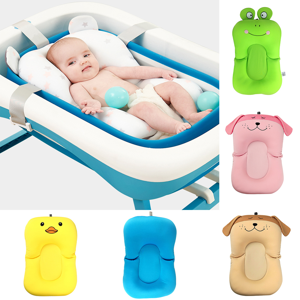Newborn Bathroom Baby Seat Tub Shower Portable Air Bebes Infant Care Non-Slip Bathtub Mat Bath Baignoire Tubs Cushions