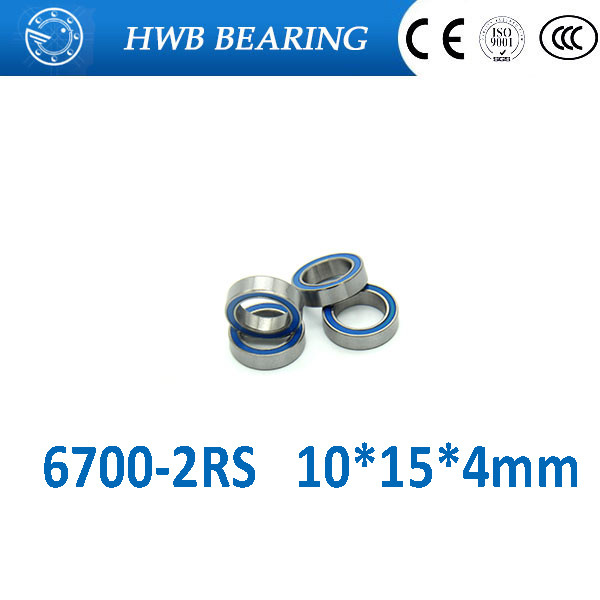 Free shipping 6700-2RS 6700 RS 10*15*4mm blue double rubber sealing cover  chrome steel bearing GCR15 6700RS 10x15x4mm 100pcs 6700 2rs 6700 6700rs 6700 2rz chrome steel bearing gcr15 deep groove ball bearing 10x15x4mm