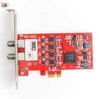 TBS6205 DVB-T2/T/C Quad TV Tuner PCIe Card for Watching UK Freeview SD and HD Channels on PC