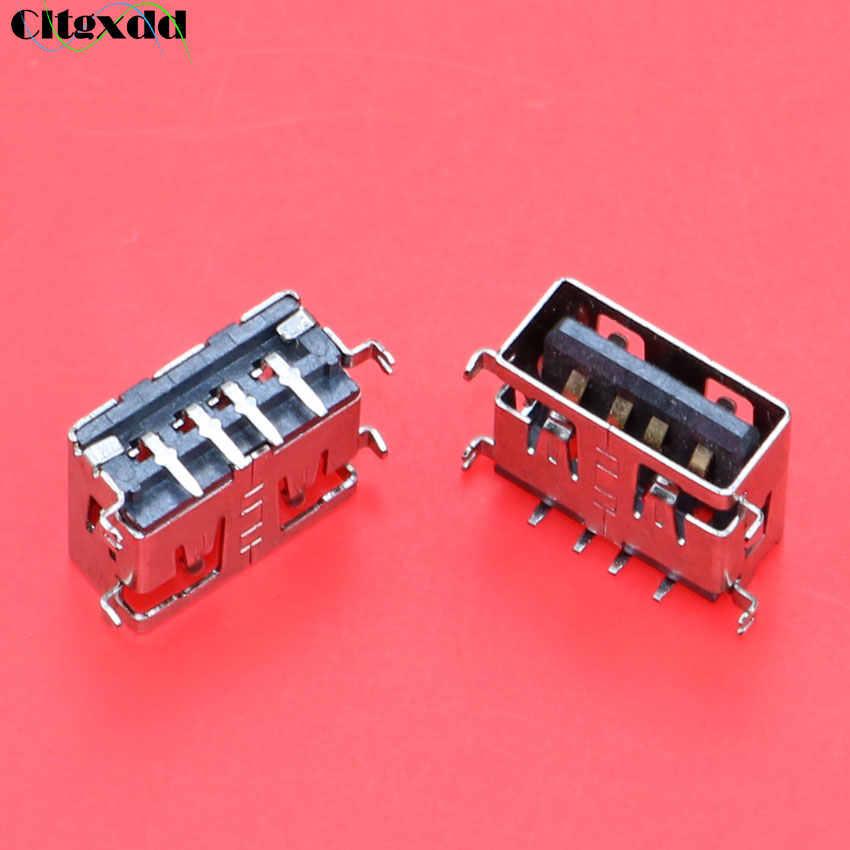 Cltgxdd 10 มม. สั้น 2.0 USB jack 4 ขา 90 องศา AF bend Pin ปลั๊ก USB หญิงสำหรับเดสก์ท็อปพีซีแล็ปท็อปฯลฯ