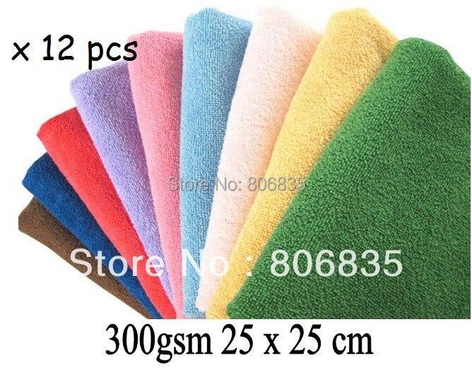 300gsm 25x25 cm Microfibra Paño de Limpieza, Trapos de limpieza, Toalla de Micro