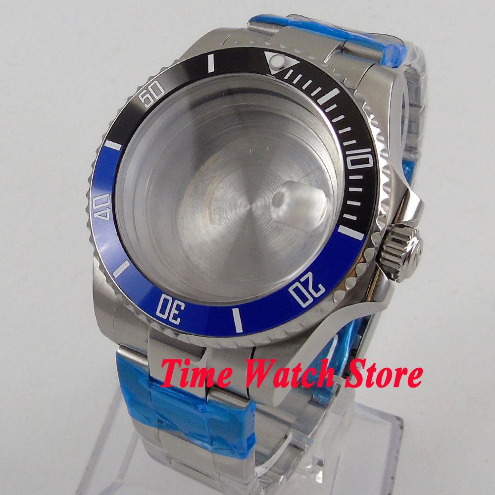 купить Fit ETA 2824 2836 movement 40mm ceramic bezel sapphire glass watch case 112 по цене 4515.03 рублей