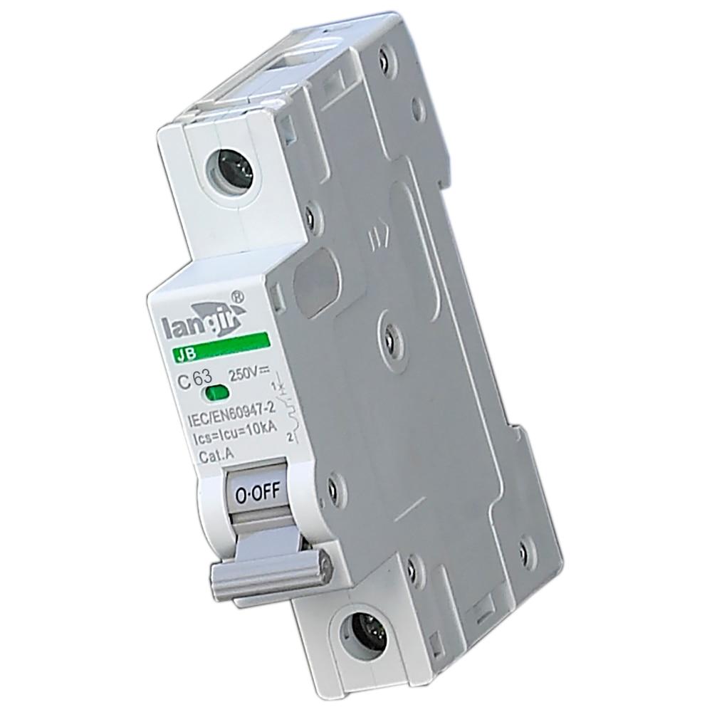 63A 250 VDC Einpolige DC schutzschalter MCB nicht polarisierte dc ...