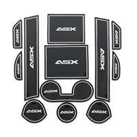 Pour Mitsubishi ASX 2013-2016 porte fente Pad voiture anti-dérapant tapis 3D en caoutchouc tapis tasse coussin poussière tapis porte fente tapis voiture accessoires