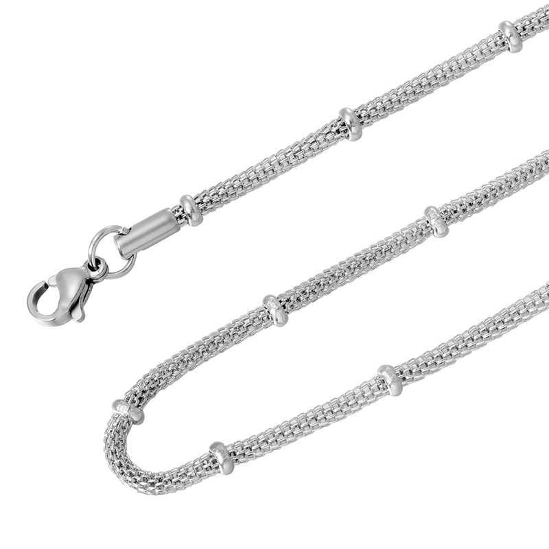 LASPERAL acier inoxydable ton argent torsadé corde Mix chaîne collier pour la fabrication de bijoux hommes femmes longue chaîne collier bijoux