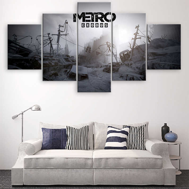 Metro Exodus Game Home Decor Picture Wall Art Canvas Painting HD Printed Paintings Canvas Wall Art Modern Decorative Artwork