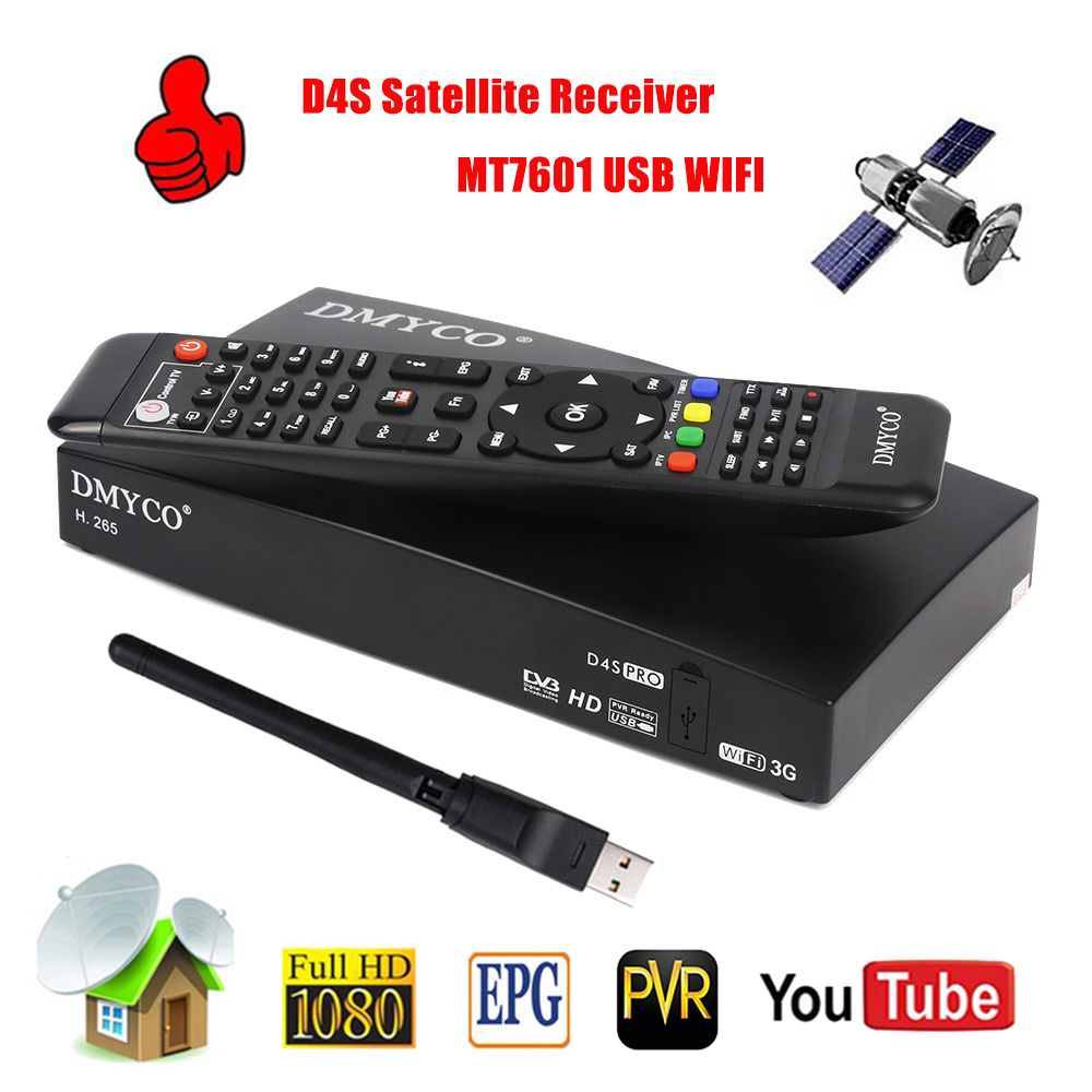 Genuine HD DVB S2 Satellite font b Receiver b font D4S PRO Receptor FTA Satellite