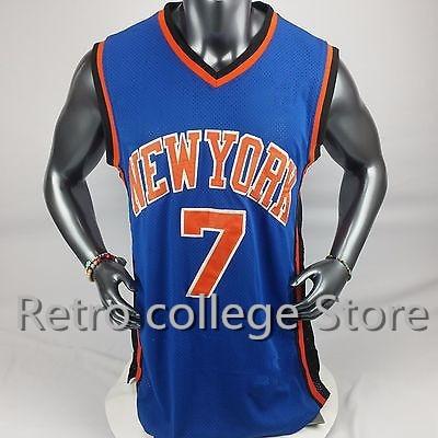 Нью-Йорк Баскетбол рубашка Джерси #7 Кармело Энтони Ретро Возврат Вышивка сшитые персона ...
