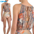 New Arrival Sexy Women's One Piece Swimsuit Print Swimwear Bathing Monokini Push Up Padded Bikini