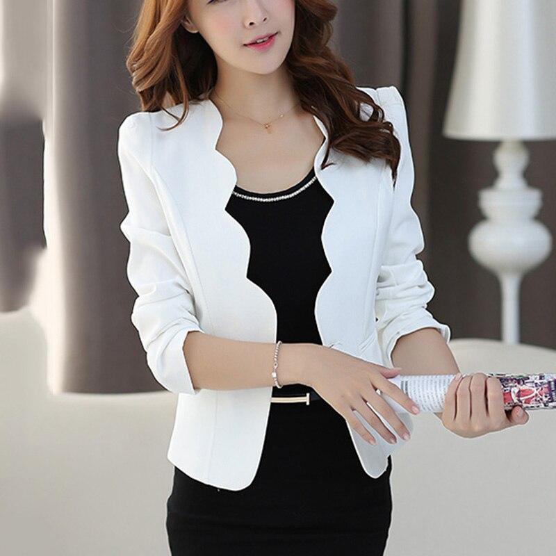 2019 Blazers Slim Cardigans tenue de bureau manteau pour haut pour femme Style coréen femme vêtements Harajuku femme veste poche 421