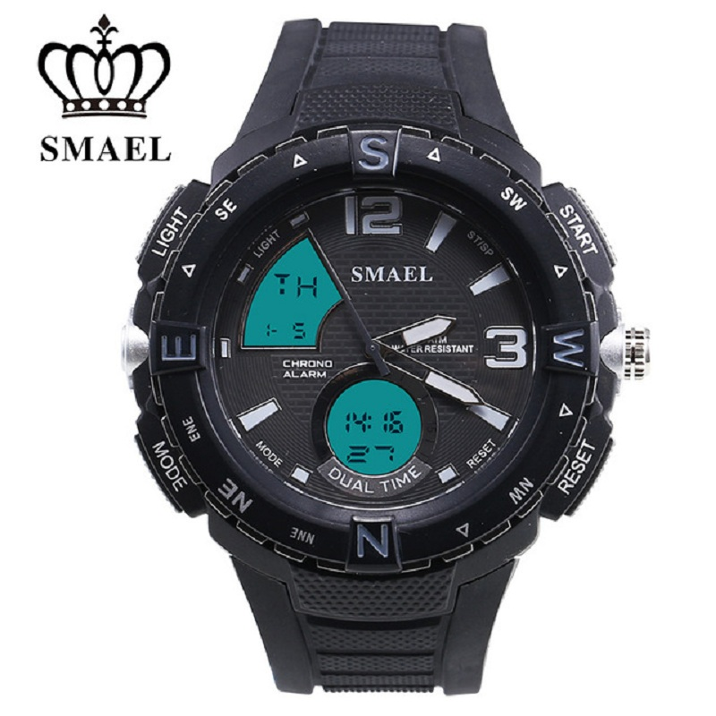 SMAEL New Man Watch With New Launch Of The New Dual Display Avatar And High Performance Waterproof Men Watches Sports Wristwatch