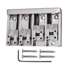 בס רולר אוכף גשר Tailpieces עם ברגים ברגים סט עבור 4 מחרוזת חשמלי בס חלקי