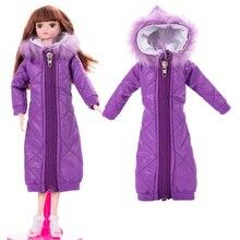 Новинка, платье для куклы, модный пуховик, одежда ручной работы, наряды для Барби 1/6, аксессуары для куклы BJD, подарок для девочки, игрушки сделай сам