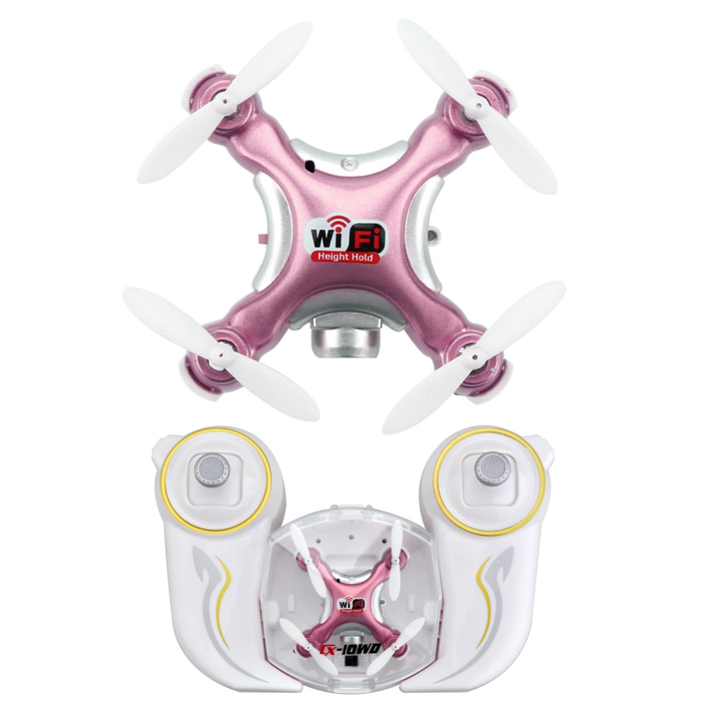 Cheerson CX-10WD-TX <font><b>Mini</b></font> Wifi <font><b>FPV</b></font> Quadcopter <font><b>Drone</b></font> With HD Camera High Hold Mode 2.4G 6-axis Remote Control Nano Quadcopter RTF image