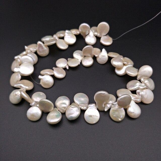 Shuangsheng nova pérola gotejamento natural 12 18mm pétala branca pérolas design original de alta qualidade diy jóias fazendo 55 peças