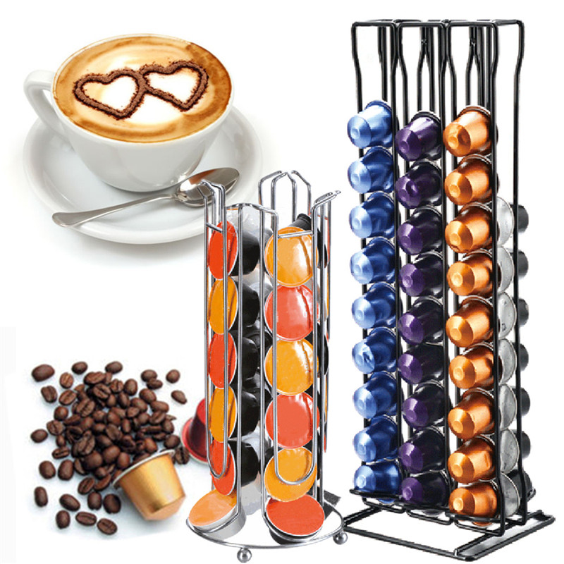 60Pcs Coffee Capsules Pod Display Storage Rack Holder Stand Dispenser For NESPRESSO Coffee Maker Home Kitchen Appliance Parts sobuy frg280 sch coffee pod capsule teabags drawer box holder cabinet coffee machine stand