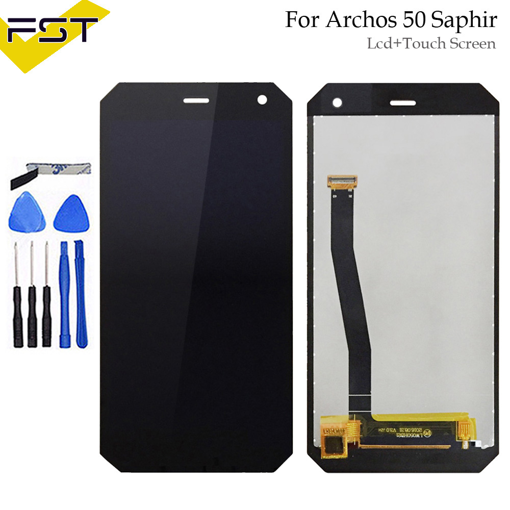 Black 5.0For Archos 50 Saphir LCD Display+Touch Screen Digitizer Assembly Glass Panel Replacement Parts+ToolsBlack 5.0For Archos 50 Saphir LCD Display+Touch Screen Digitizer Assembly Glass Panel Replacement Parts+Tools