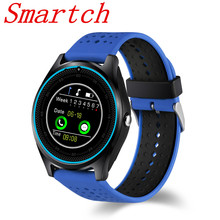Smartch V9 Bluetooth Smart watch With Camera GPS Support SIM card Fitness Tracker Bracelet Wearable Devices  WristWatch