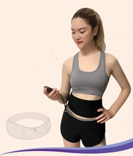 Rechargeable Muscle stimulator slimming massage belt  Female EMS abdominal muscles belt with 7trainning modes