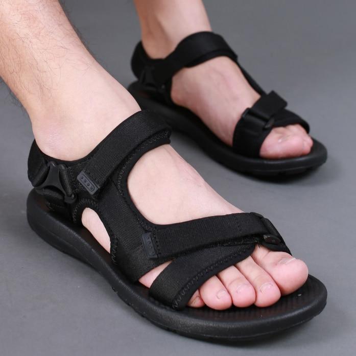 2017 summer gladiator mens beach sandals outdoor shoes Roman men casual shoe flip flops  ...