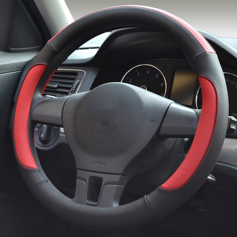 Antiproof 15 Inch Car Steering Wheel Cover Microfiber Leather Auto Accessories 4 Colors 37 38cm Outer Diameter Wheel