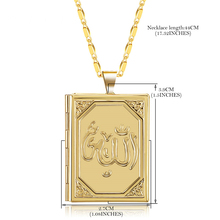 Pendant Necklaces Locket Necklace Islamic Allah Necklaces Pendants Gold/Silver Color Religious Muslim Jewelry Necklace