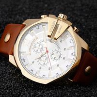 Curren 8176 Men Watches Top Brand Luxury Gold Male Watch Fashion Leather Strap Outdoor Casual Sport