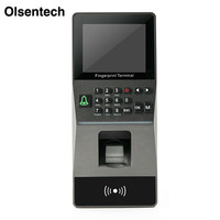 Large Capacity RFID Biometric Fingerprint Access Control TCP/IP/ RS485 2.8 inch Door Lock all in one Attendance machine RFID Ac
