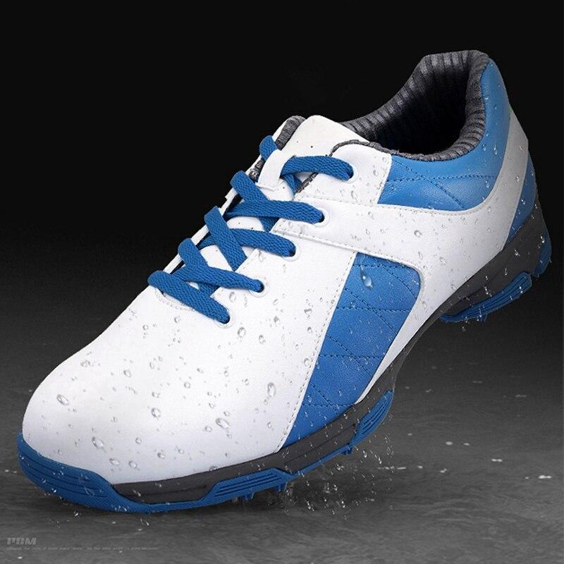 PGM Для мужчин обувь для гольфа Водонепроницаемый противоскользящие тапки для мужчин открытый спортивной обуви противоударный кроссовки ды...