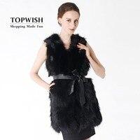 New Real Raccoon Fur Vest Long Custom Multi Color Factory Wholesale Nature Fox Fur Gilet Genuine Fox Fur Vest TNT506