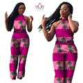 2017 New Summer Womens Jumpsuit Sex Sleeveless Long Pants African Print Style Clothing One Piece Out Off Shoulder WY315