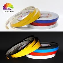 Free Shipping 45.7M*1CM Super Reflective Tape Stripe Luminous Car Decoration Sticker Styling
