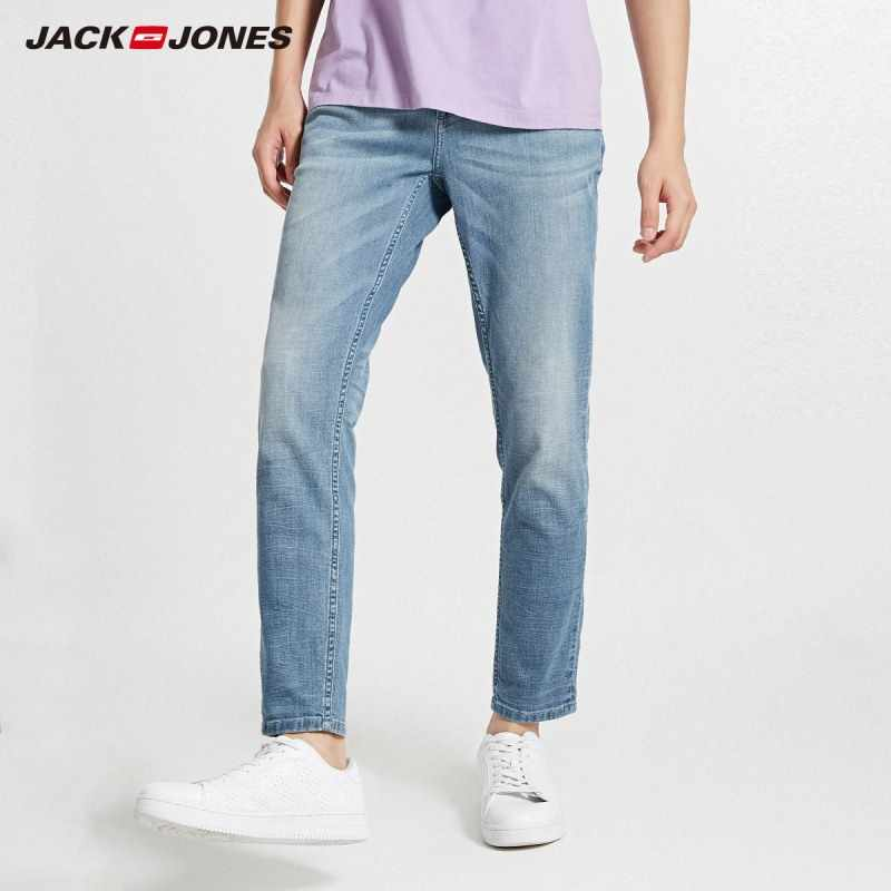 JackJones Autumn Men's Cotton and Linen Ribbon Stitching Casual Jeans | 218332600
