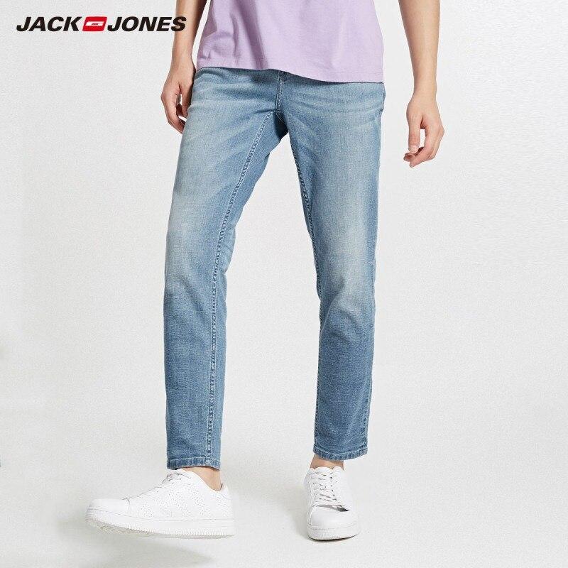 JackJones Autumn Men's Cotton And Linen Ribbon Stitching Casual Jeans | 218332600