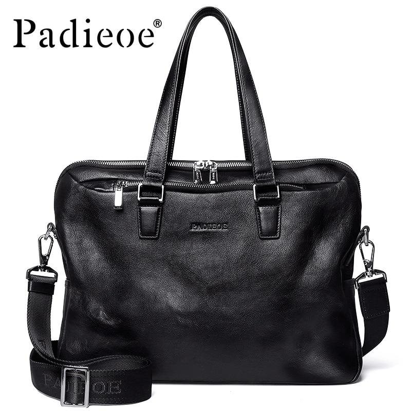Padieoe Men Briefcase Tote-Bags Messenger-Bag Business Shoulder Casual Famous-Brand Male