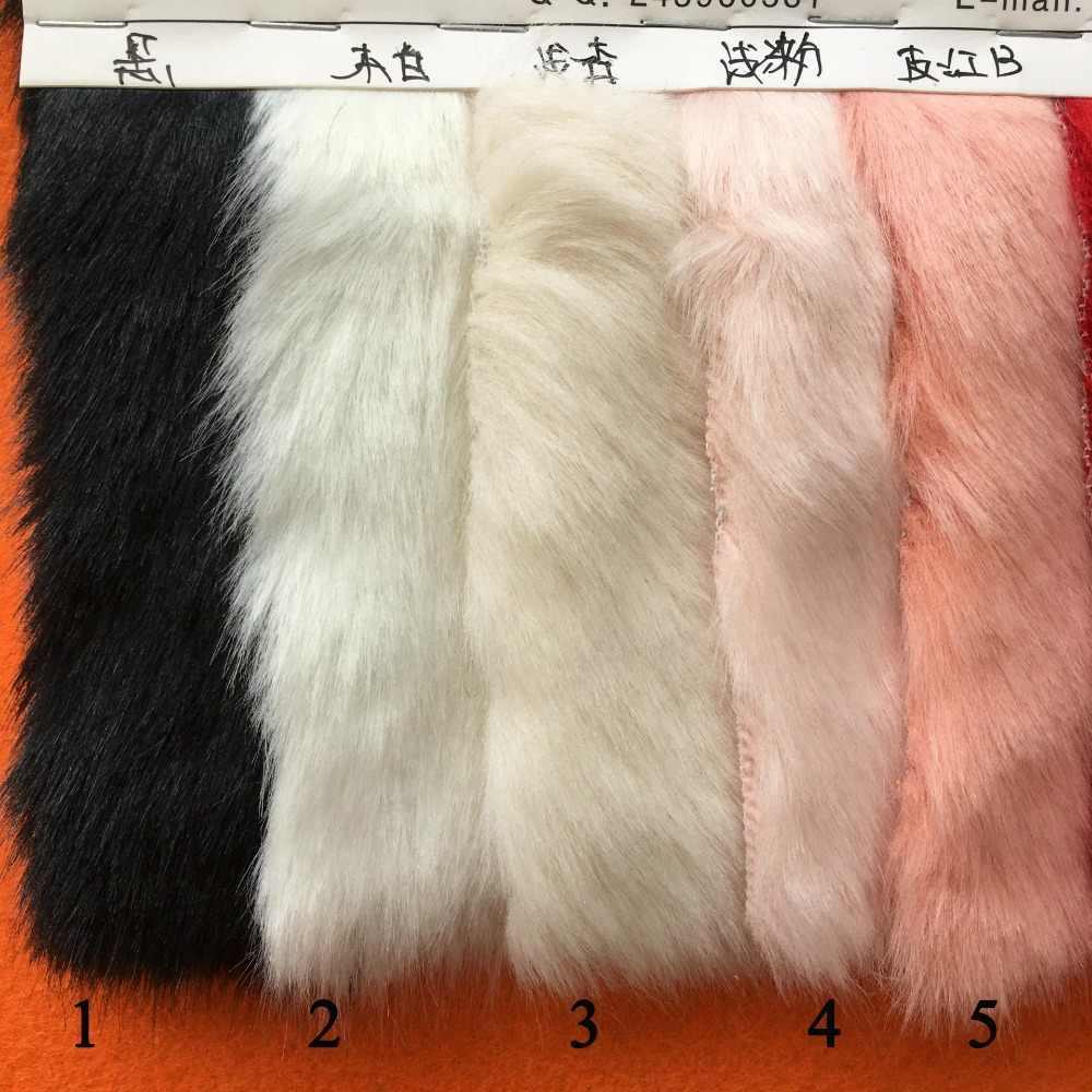 90 cm * 160 cm Solid Shaggy Faux Fur Stof lange Stapel Bont Kostuums Ambachten DIY Imitatie nertsen Bont Gebreide stof Kunstmatige Stof