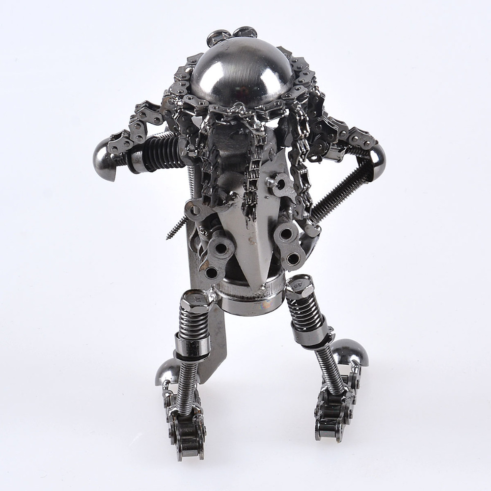ls big hand made wrought iron blade soldier robot home decoration