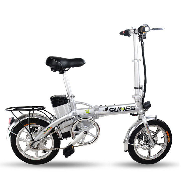 New 2016 X Front Brand Foldable Electric bicycle 14 inch Mini Cool Cycling 15A E font