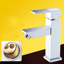 Torneira Bathroom Sink Faucet Lanos All Copper Basin Faucet Hot And Cold Mixing Valve Washbasin Single Hole Bathroom Products
