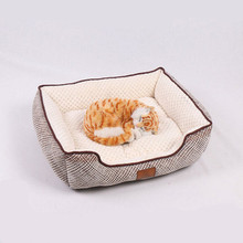 Brief New Pet Beds Lovely Animal Sleeping Mats Warm Soft Plaid Breathable High Quality Cat Dog Sofa Cotton Suppliers Houses
