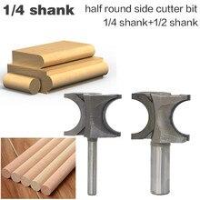 """Vástago clásico de 1/4 """"y 1/2"""", cortador lateral redondo de ambos lados, brocas para enrutador de madera, carburo C3, vástago de 6,35/12,7mm, herramientas de corte de madera, 1 ud."""