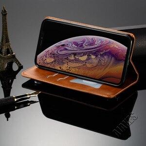 Image 3 - 磁気フリップ革財布ケース Apple の Iphone Xs Max X Xr 8 7 6 6s プラスフォリオカバースタンド機能カードスロットクレジットカード
