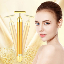 Electric Face Lift Golden Slimming Wrinkle Remove Instrument Facial Beauty Massa