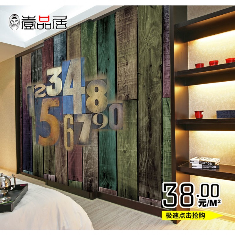 cheap custom wood letters large mural wallpaper wallpaper backdrop living room c594 personality patternschina
