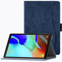 """galaxy tab BOZHUORUI case for Samsung Galaxy Tab A 10.1""""2019 tablet SM-T510 SM-T515 PU Leather Stand Hand Strap Business casual cover case (1)"""