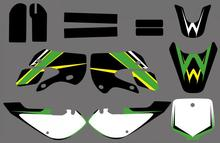 GRAPHICS & BACKGROUNDS DECALS STICKERS Kits for Kawasaki KLX110 2002-2009 KX65 2000-2013 All DRZ110 Similar Pit Bikes