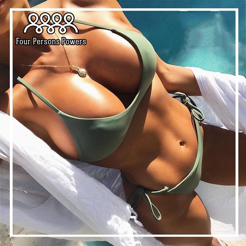 2017 Swimwear Women Sexy Micro Bikinis Set Brazilian Bikini Thong Swimsuit Plavky Maillot De Bain Femme NK117 brazilian tanga bikini 2016 swimwear women big bow thong bikini bottom sexy brazilian biquini bralette trajes de bano women