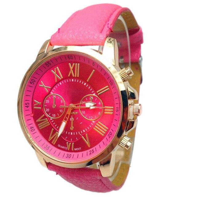 xiniu Fashion Geneva Watches Women Men Casual Roman Numeral Watch For Men Women PU Leather Quartz Wrist Watch relogio Clock