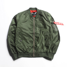 cbb6379590025 port Wind original design autumn men women Lovers Solid color Baseball jacket  Military tactical Army MA